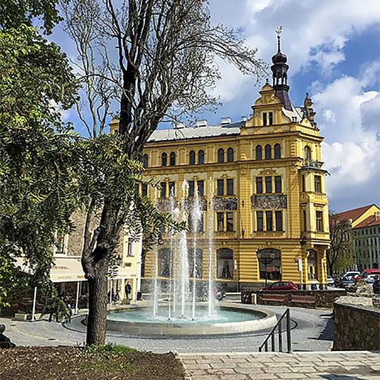 Písek - Palacký Gardens - Empire gazebo named Schrenk's Pavilion, photo by: Archiv Vydavatelství MCU s.r.o.