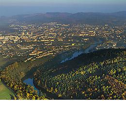Švejkova budějovická anabáze - mapa, autor: Městský úřad Písek