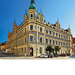 Písek - Severní strana Velkého náměstí, foto: Archiv Vydavatelství MCU s.r.o.