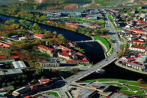 Písek as seen from the Jarník observation tower, photo by: Archiv Vydavatelství MCU s.r.o.